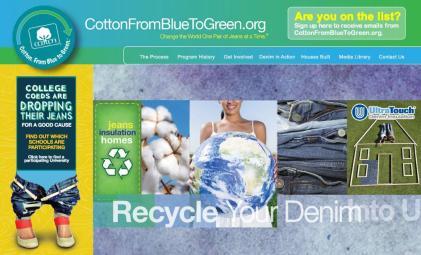 recycling denim for home insulation