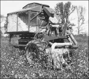 One Row John Deere cotton picker