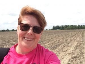 JPlovesCOTTON in a cotton field