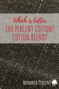 100 percent cotton or blend