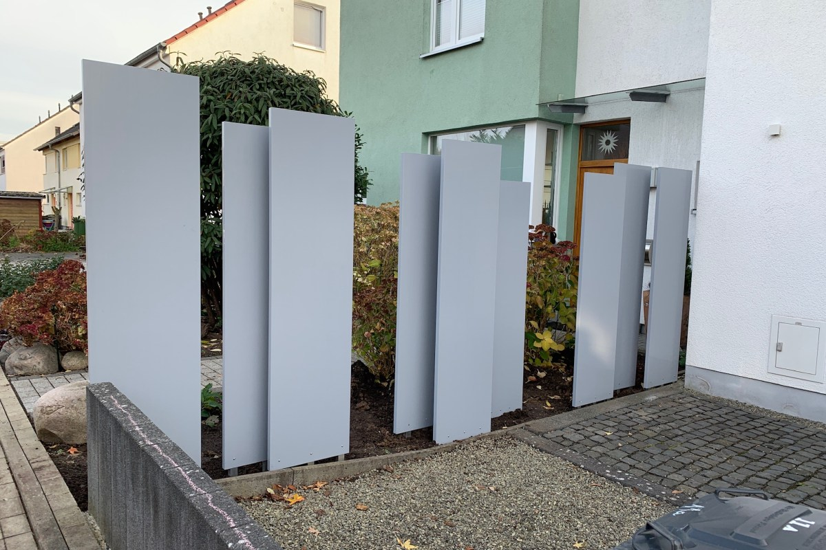 Kunststoffpalisaden mit Aluminiumkern