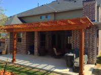 Back Patio Arbor In Frisco Texas - Hundt Patio Covers and ...