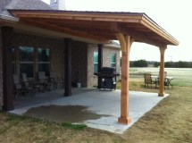 Simple Royce City Patio Cover With Shingles - Hundt