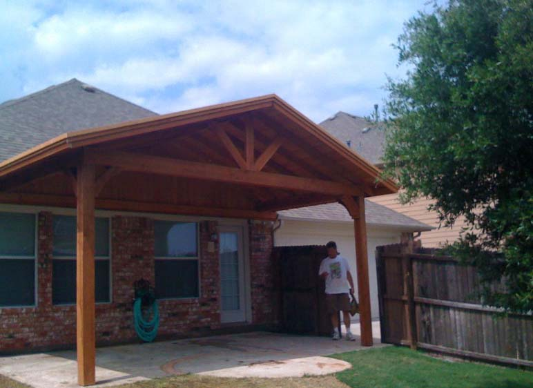 Simple Patio Cover Provides Backyard Shade  Hundt Patio Covers and Decks