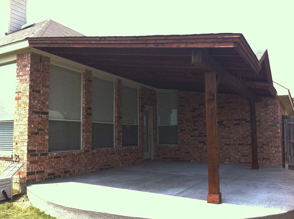 Backyard Patio Cover In Denton, Texas