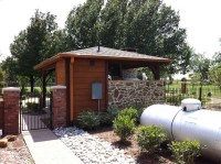 Backyard Patio Cover, Outdoor Kitchen and Bathroom In ...