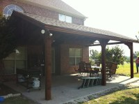 Large Backyard Patio Cover with Ceiling Fans: Van Alstyne ...