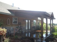 Roofed Backyard Patio Cover with Sunburst - Hundt Patio ...