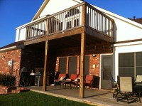 Simple Balcony Patio Cover Combo In Madill Oklahoma