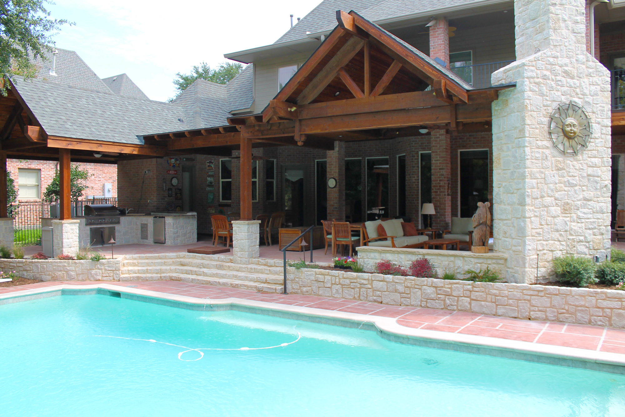Large Beautiful Poolside Patio Cover In Plano  Hundt