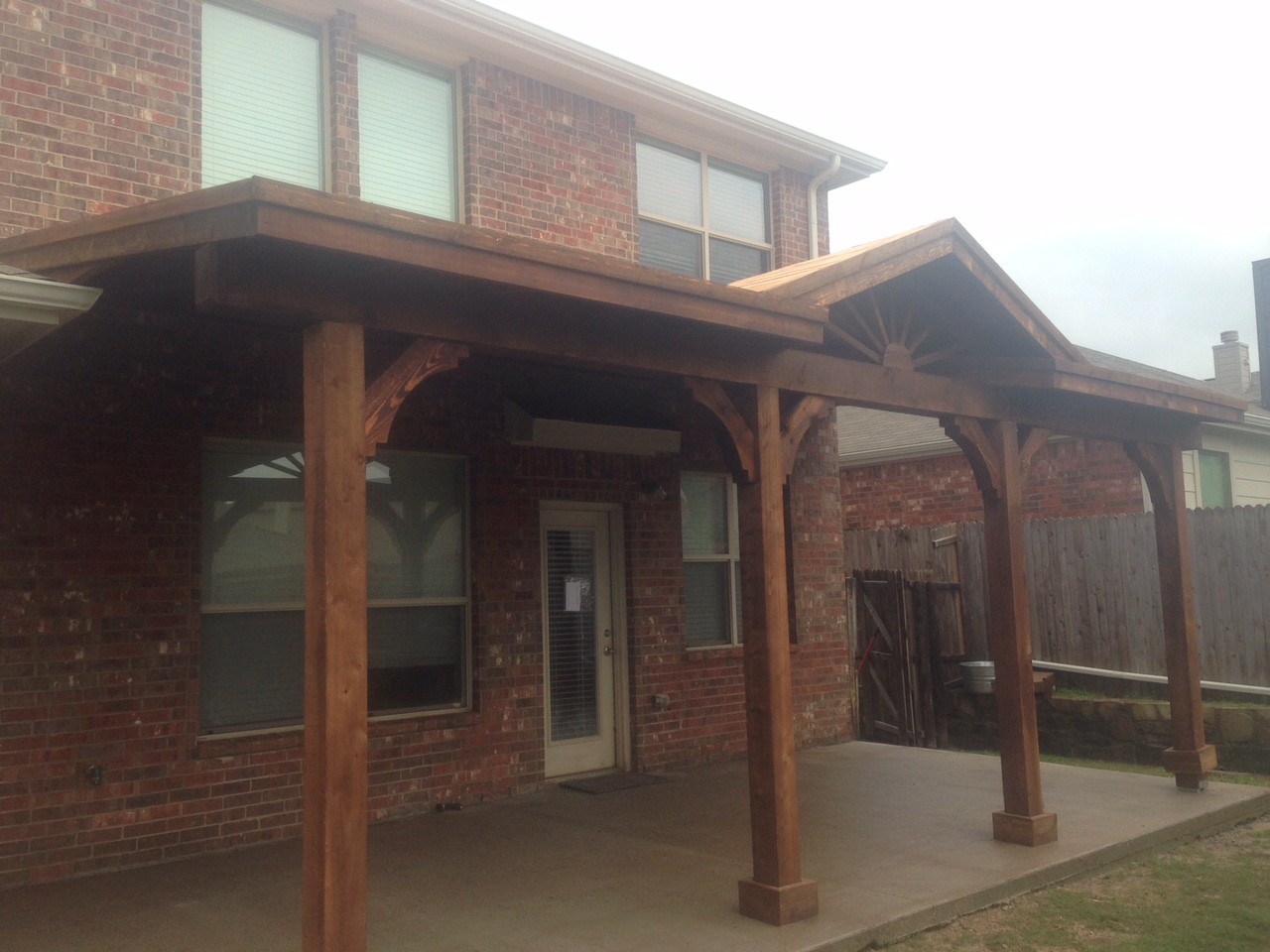 Backyard Patio Cover Outdoor Kitchen and Bathroom In Frisco Texas  Hundt Patio Covers and Decks