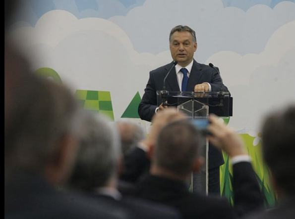 Those beautiful clouds  Viktor Orbán in Törökbálint