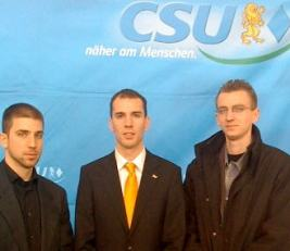 The delegation of Fidelitas in Passau, 2009 Omar Sayfo is the first on the left