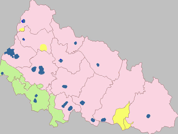 Ethnic map of Zakarpattia Obast  / Source: http://en.wikipedia.org/wiki/Zakarpattia_Oblast