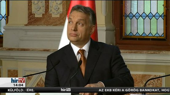 Viktor Orbán announcing that it was him who ordered the withdrawal of government assets from Quaestor
