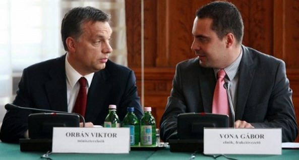 Prime Minister Viktor Orbán and Chairman Vona Gábor of Jobbik