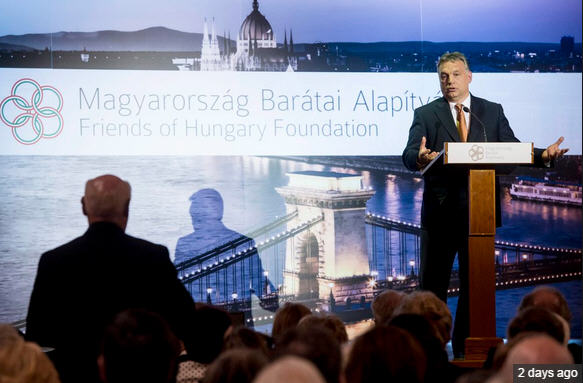 Viktor Orbán in his element during the question and answer period