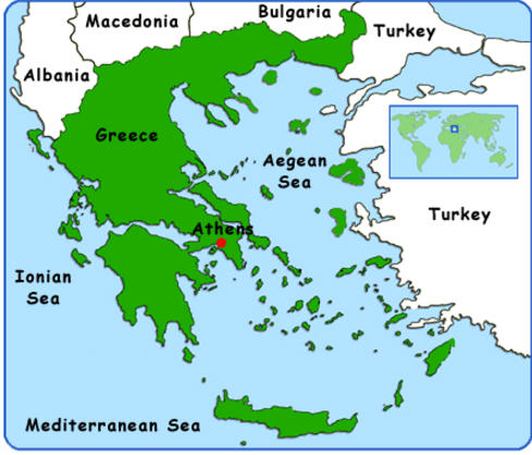 borders of greece