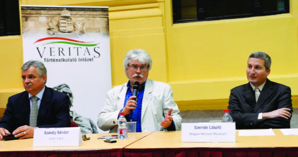 Sándor Szakály at a conference on Bálint Hóman organized by the Veritas Institute