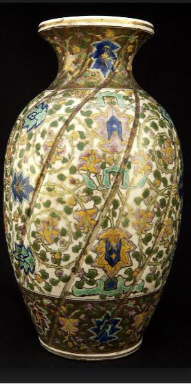 Vintage Zsolnay vase, ca. 1870