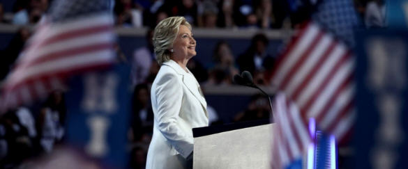 Hillary Clinton at the National Democratic Convention