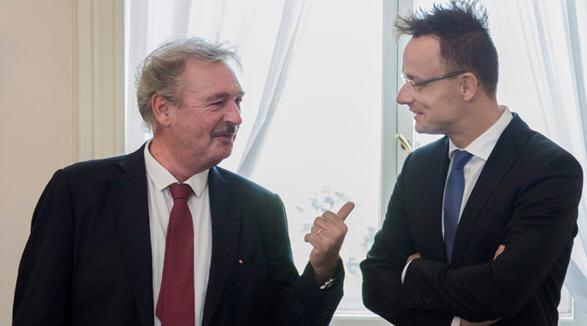 Jean Asselborn and Péter Szijjártó, September 21, 2015 / MTI Photo Márton Kovács