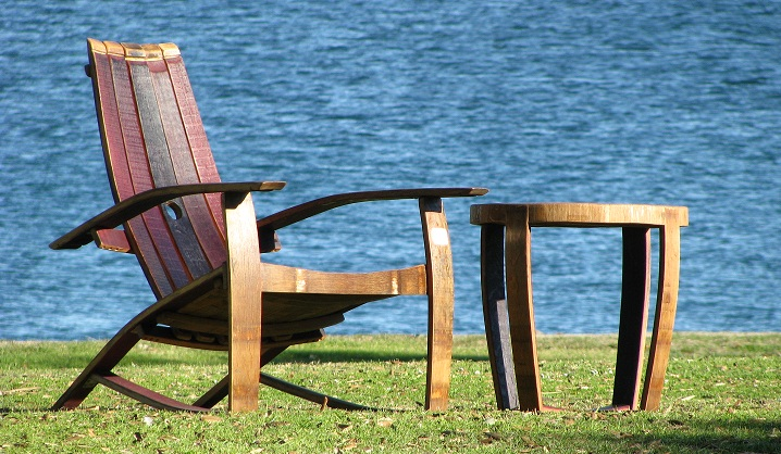 adirondack wine barrel chairs restoring eames lounge chair bourbon furniture archives page 5 of hungarian workshop oak garden by the