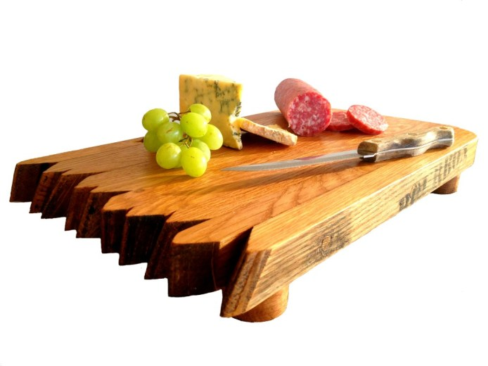 Whiskey Barrel Cutting Board