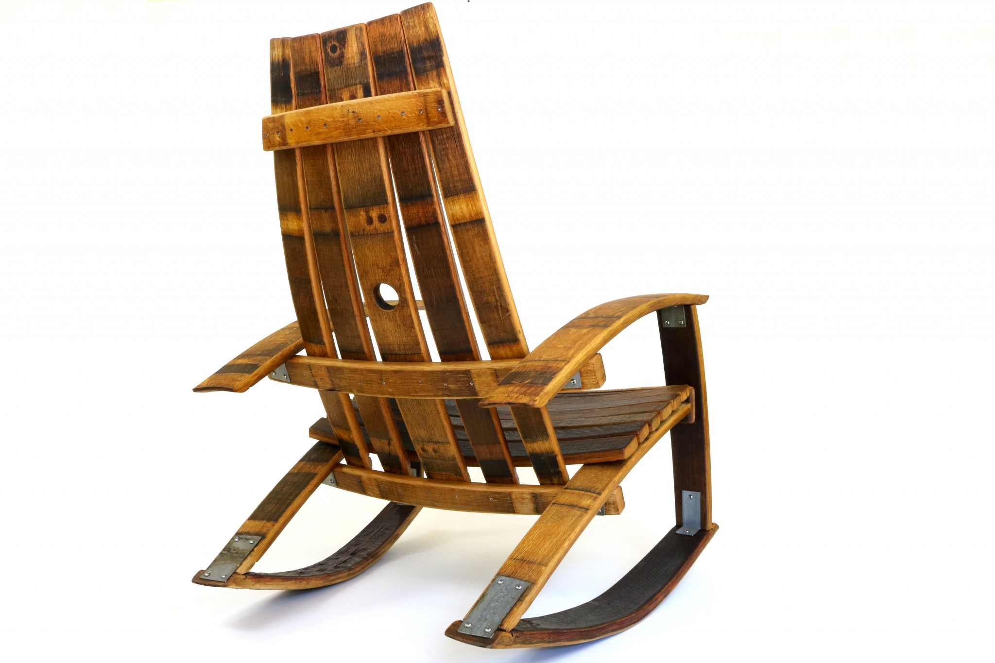 Rocking Chairs Recurved Wine Barrel Rocker
