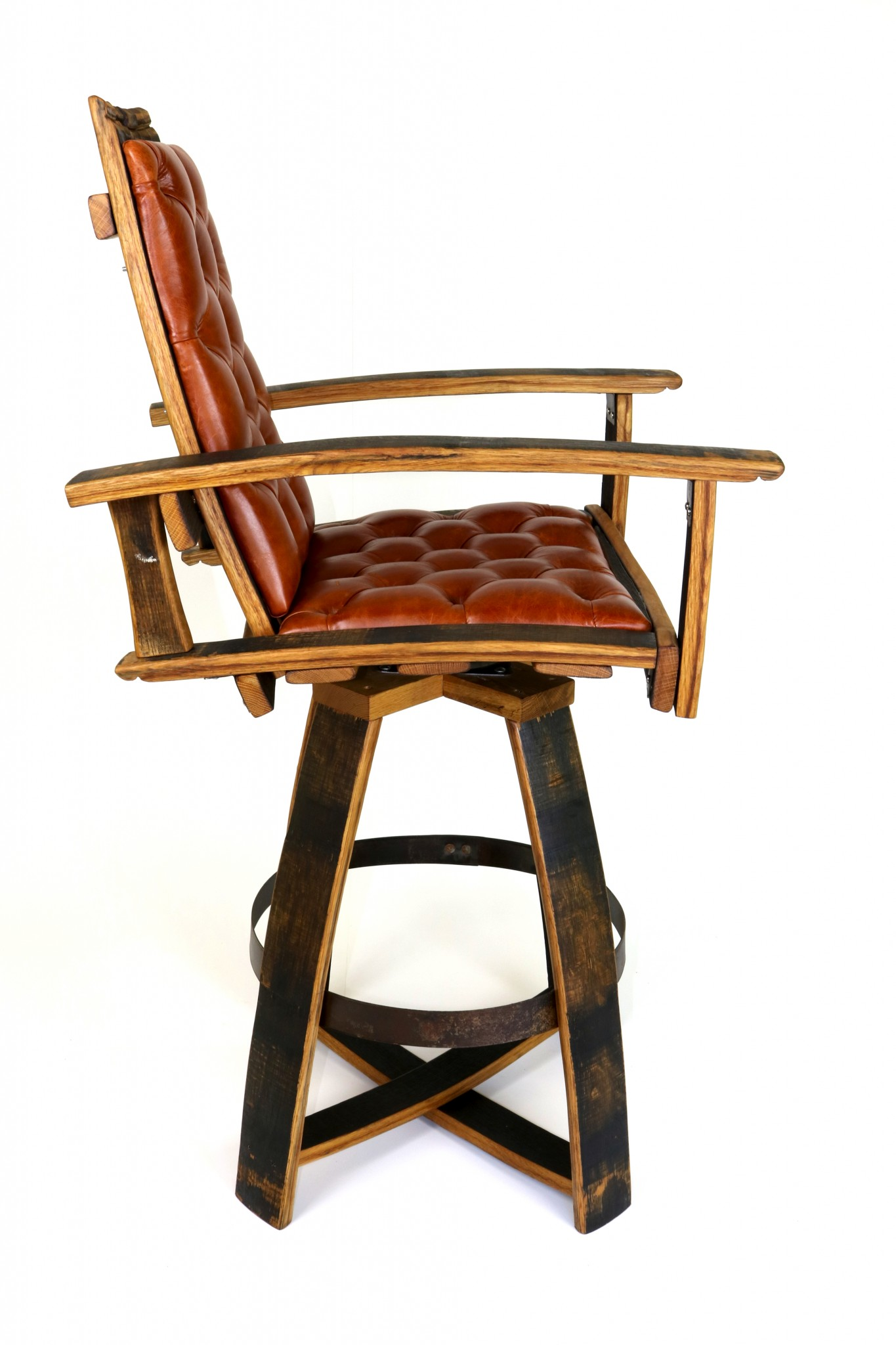 leather pub chair small club slipcovers the chairs barrel hungarian