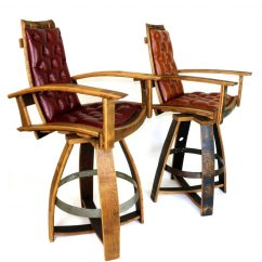 Leather Pub Chair Back Support For The Chairs Barrel Hungarian