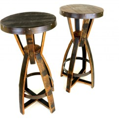 Whiskey Barrel Pub Table And Chairs Big 5 Camping Bourbon Tables Hungarian Workshop Buy Today
