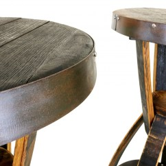 Whiskey Barrel Pub Table And Chairs Party Tables Bourbon Hungarian Workshop Buy Today