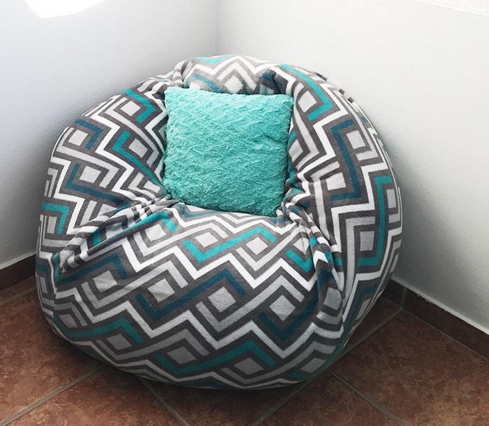 the easiest diy bean bag chair tutorial