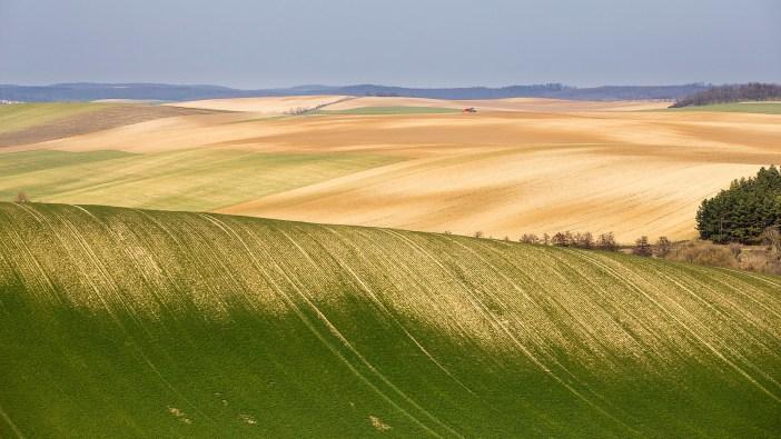 Curvy hills near Csetény