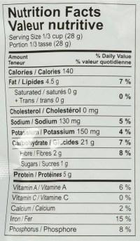 Zak Organics Crunchy Peas - Mango Habanero - Nutrition