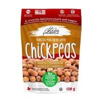 Three Farmers Chick Peas Maple and Cinnamon 120G Roasted Chickpeas