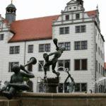 Brunnen auf dem Marktplatz in Torgau