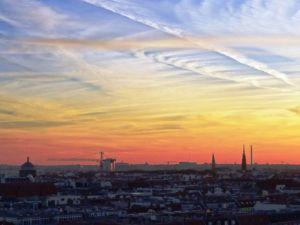 Sonnenuntergang Thälmann-Park Berlin