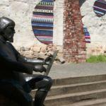 Statue Cranach der Ältere bei der Arbeit