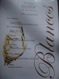 El Rall white wine menu