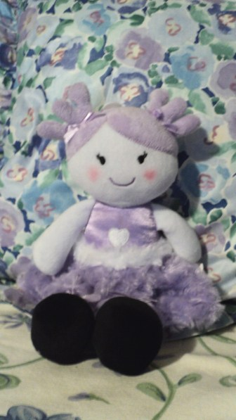 "12""H Dolly Friend $14.50 She will tuck away in any place or space."