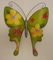 "13""High Green Metal Wall Butterfly $19.50"