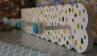 """24""""x4"""" 4 peg Polka Dot Wall Rack $69.50"""