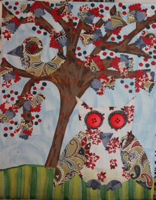 """14""""x11"""" Canvas Owl Custom Art $139.00 Multi-texture, handmade art Frame ready print also available $19.50"""