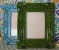 "5""x7"" Lacquered Frame $39.00 each In Aqua or Green, this frame is charming and sophisticated."
