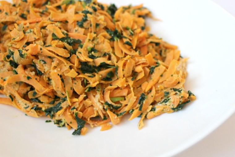 Sweet Potato Noodles with Cashew Sauce