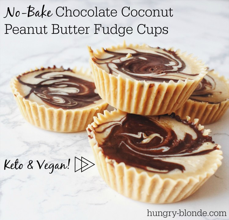 Keto Chocolate Coconut Peanut Butter Fudge Cups