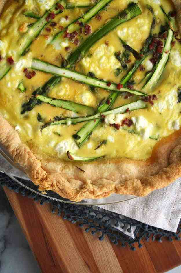 Spring Quiche with Asparagus Pancetta and Goat Cheese | Hungry by Nature