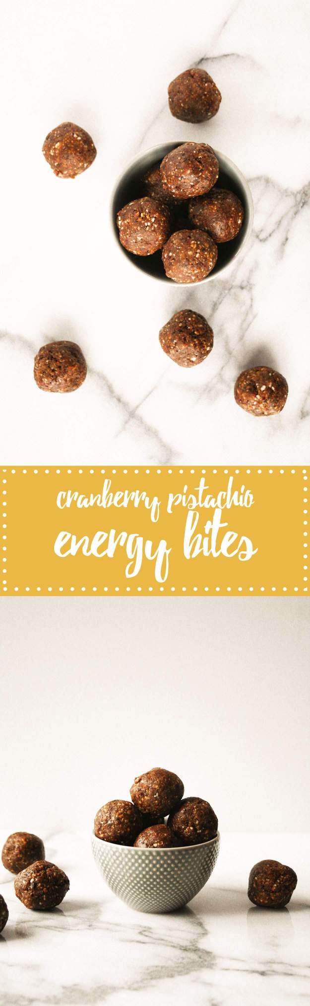 5 Ingredient Cranberry Pistachio Energy Bites | hungrybynature.com